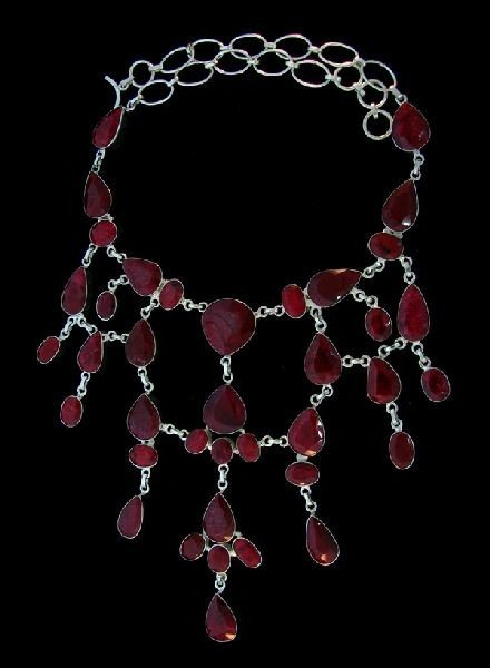 APP: 177.1k 341.74CT Ruby & Sterling Silver Necklace