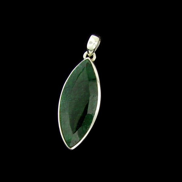APP: 14.9k 17.38CT Emerald & Sterling Silver Pendant