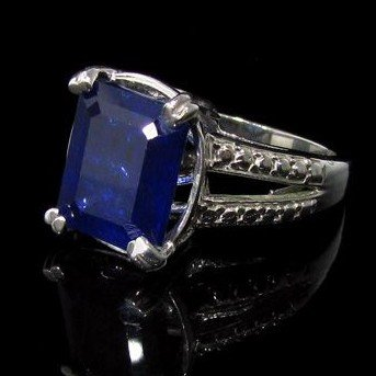 APP: 16.5k 6.70CT Sapphire & Sterling Silver Ring