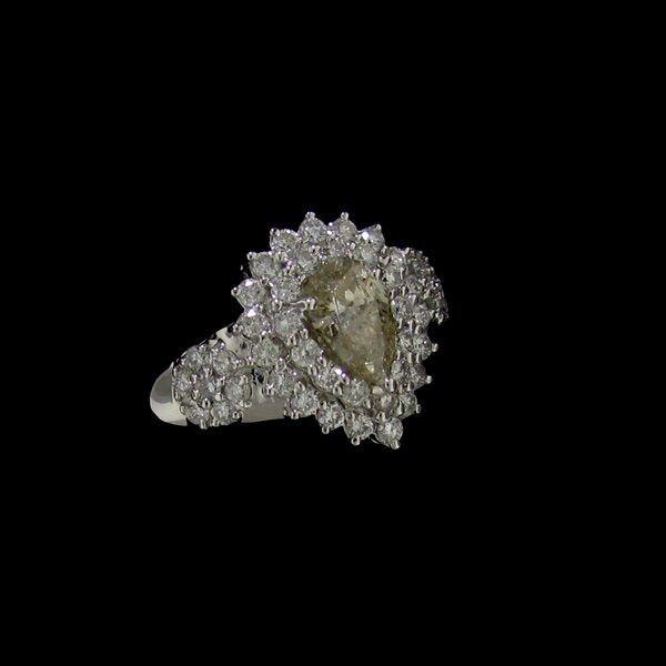 APP: 17.4k 14 kt. White Gold, 1.48CT Diamond Ring