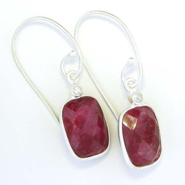 APP: 11.8k 19.27CT Ruby & Sterling Silver Earrings