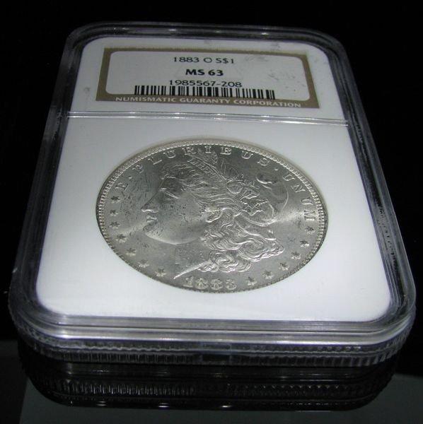 1883-O U.S. Morgan Silver Dollar Coin - Investment