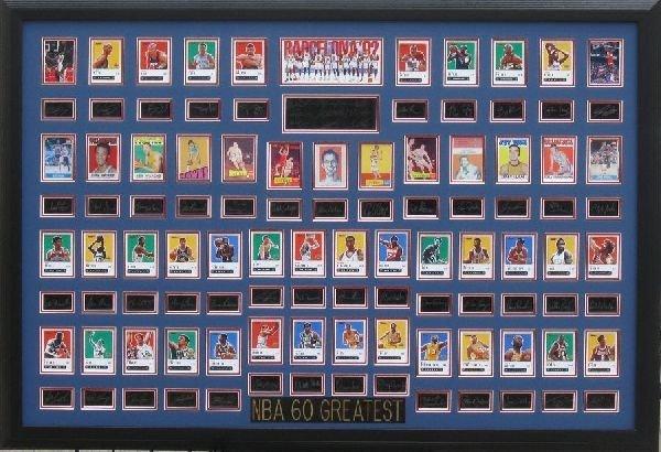 NBA 60 Greatest! - Plate Signatures