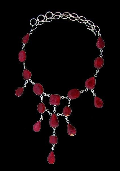 APP: 91.1k 174.74CT Ruby & Sterling Silver Necklace