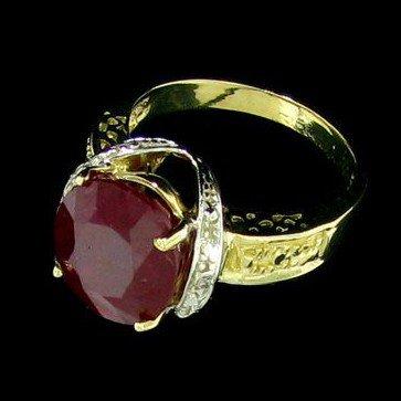 APP: 11.9k 14 kt. Gold, 4.98CT Ruby & Diamond Ring