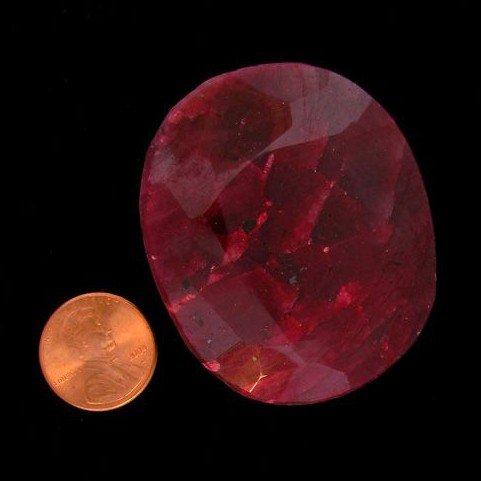 APP: 126k 531.50CT Oval Cut Ruby Gemstone
