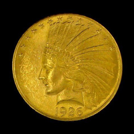 1926 U.S. Gold Indian Head $10 Coin - Investment