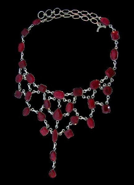 APP: 121.6k 233.87CT Ruby & Sterling Silver Necklace