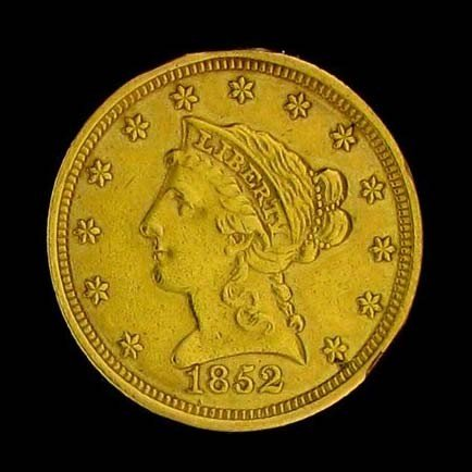 1852 U.S. Gold Coronet $2.50 Coin - Investment