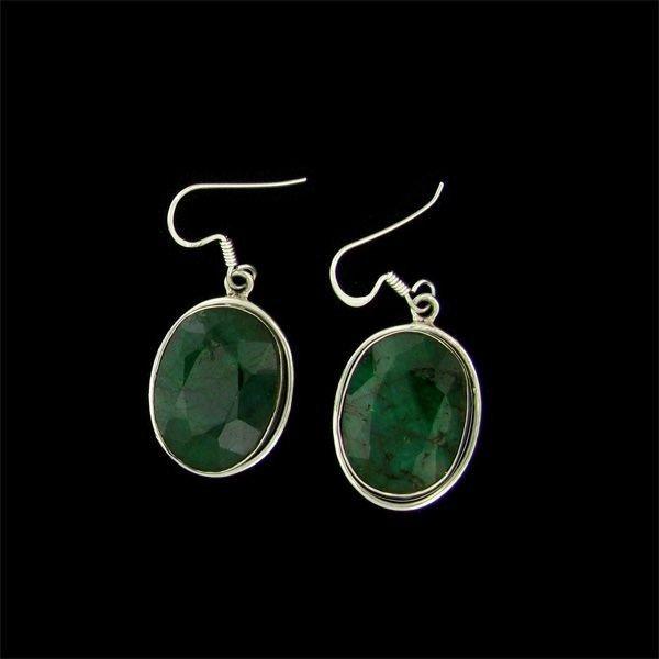 APP: 23.8k 28.29CT Emerald & Sterling Silver Earrings