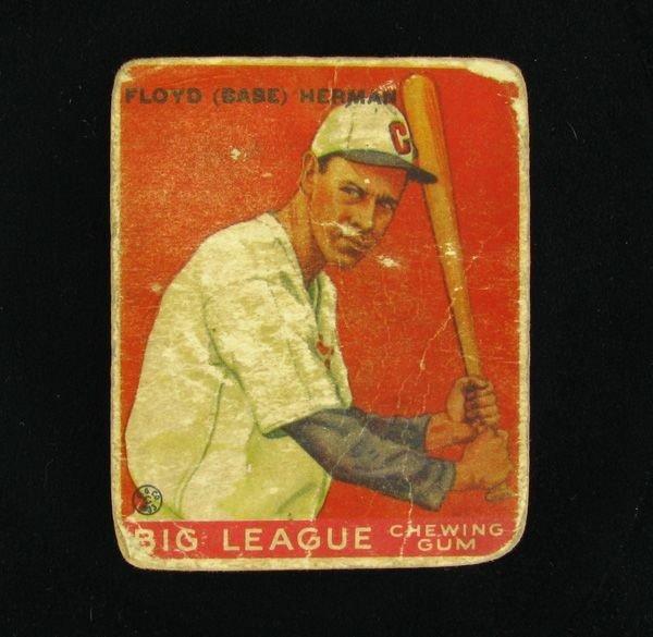 Floyd Herman #5 BP $90-500 1933 Goudey Baseball  Card