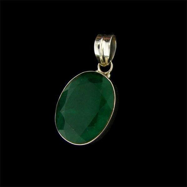 APP: 21.4k 23.06CT Emerald & Sterling Silver Pendant