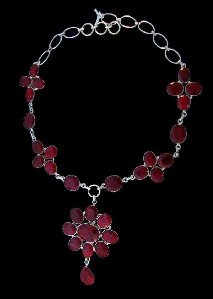 APP: 101.6k 195.12CT Ruby & Sterling Silver Necklace