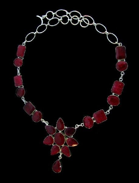 APP: 106k 205.25CT Ruby & sterling silver Necklace