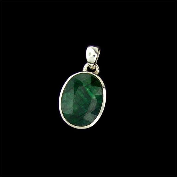 APP: 10.8k 12.70CT Emerald & Sterling Silver Pendant