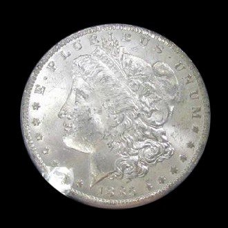 1885-O U.S. Morgan Silver Dollar Coin - Investment