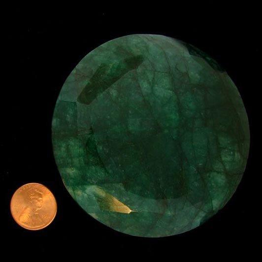 APP: 215.4k 908.89CT Round Cut Emerald Gemstone