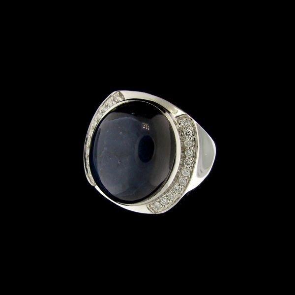 APP: 36k 14kt. White Gold, 31CT Sapphire & Diamond Ring