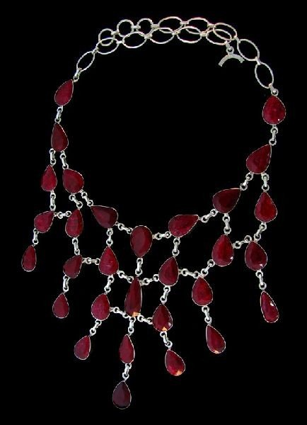 APP: 146.9k 283.08CT Ruby & Sterling Silver Necklace