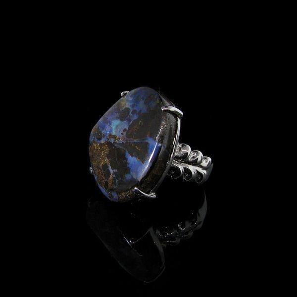 APP: 10.6k 27.30CT Boulder Opal & Sterling Silver Ring