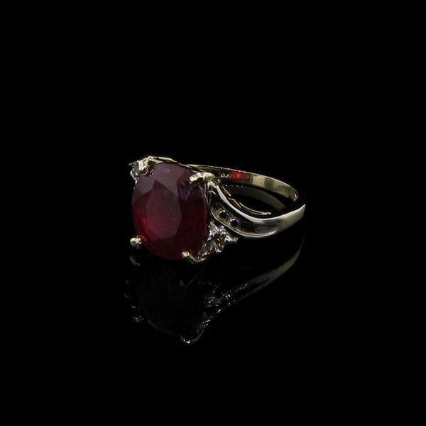 APP: 5.3k 5.30CT 14 kt. Gold, Ruby & Diamond Ring