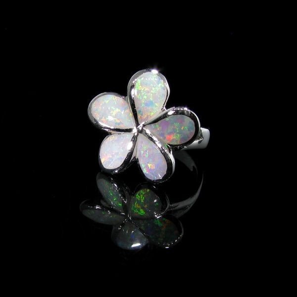 Opal & Sterling Silver Ring