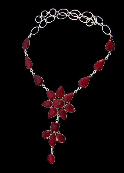 APP: 69.4k 131.74CT Ruby & Sterling Silver Necklace