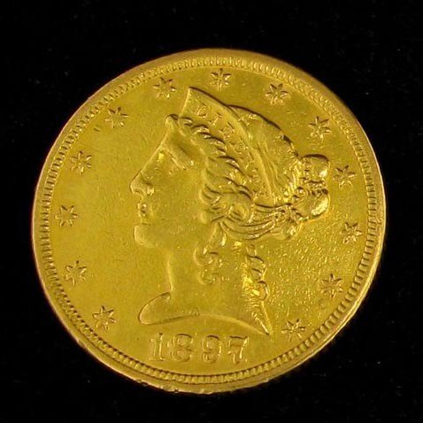 1897 $5 U.S. Gold Liberty Head Coin - Investment