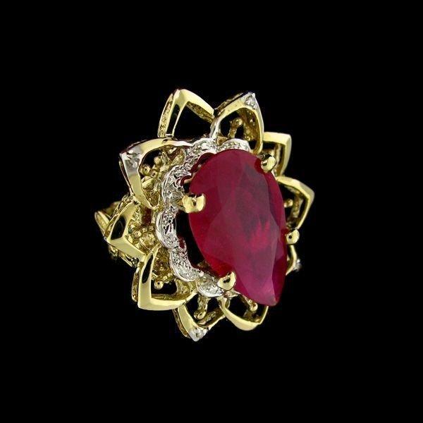 APP: 37.9k 14 kt. Gold, 16.05CT Ruby & Diamond Ring