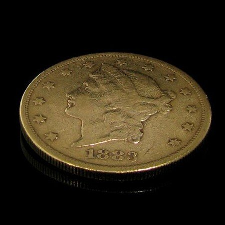 1883-s $ 20 U.S. Liberty Head Gold  Coin - Investment