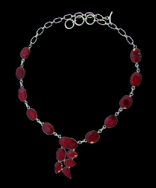 APP: 69.6k 133.83CT Ruby & Sterling Silver Necklace