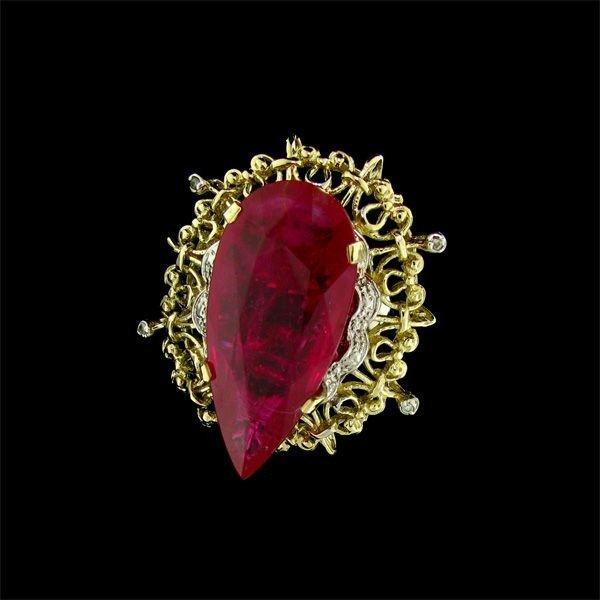 APP: 39.3k 14 kt. Gold, 42.46CT Ruby & Diamond Ring