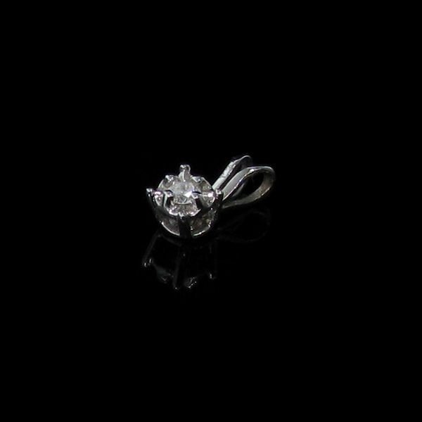 10 kt. White Gold, 0.05CT Diamond Pendant