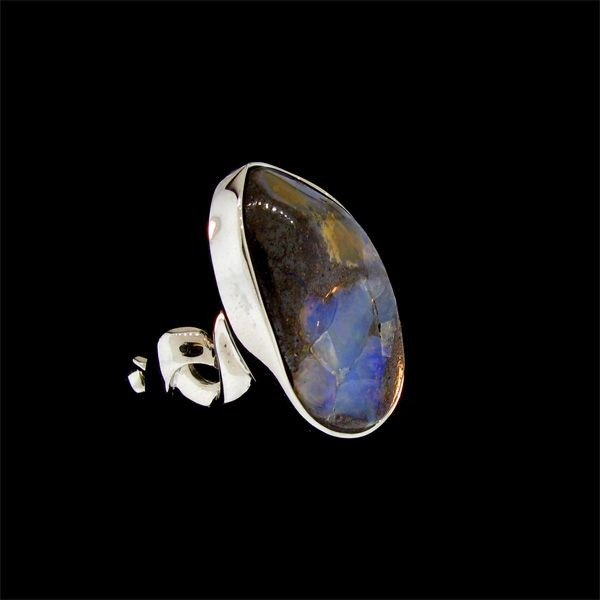 APP: 10.8k 26.88CT Boulder Opal & Sterling Silver Ring