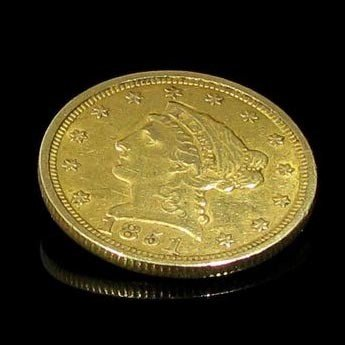 1851 $ 2.5 U.S. LIberty Head Gold  Coin - Investment