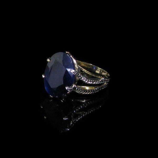 APP: 14.6k 13.05CT 14 kt. Gold Blue Sapphire Ring