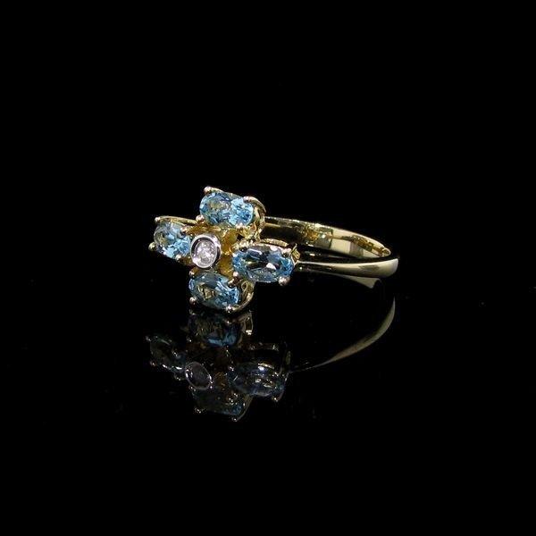 1.15CT 14 kt. Gold,  Topaz & Diamond Ring