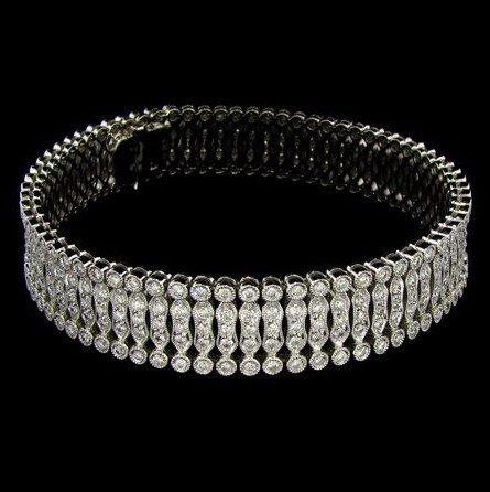 APP: 29.4k 14 kt. White Gold, 4.70CT Diamond Bracelet