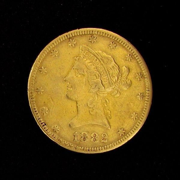 1882 $10 U.S. Gold Liberty Coin - Investment