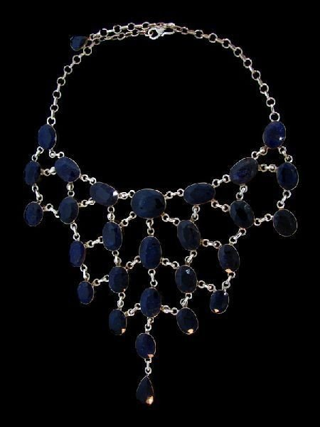 APP: 264k 322.50CT Sapphire & Sterling Silver Necklace