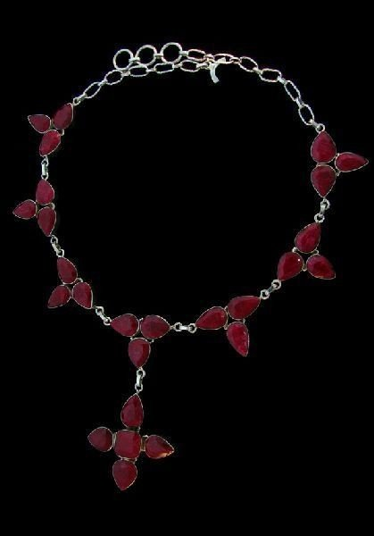 APP: 99.8k 192.48CT Ruby & Sterling Silver Necklace