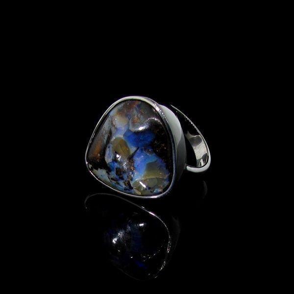 APP: 10.6k 32.24CT Boulder Opal & Sterling Silver Ring