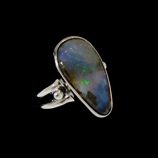 APP: 13.4k 4.20CT Boulder Opal & Sterling Silver Ring