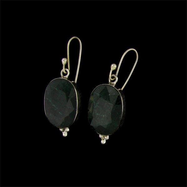 APP: 24k 32.02CT Emerald & Sterling Silver Earrings