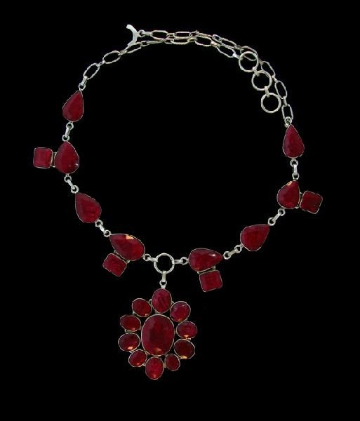 APP: 98.6k 190.21CT Ruby & Sterling Silver Necklace