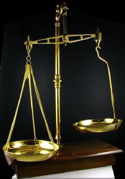 40cm Polished Brass Scale
