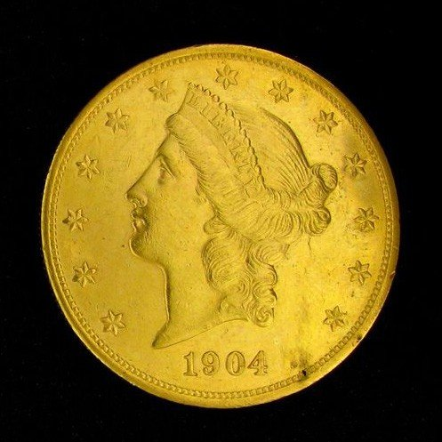 1904 $20 U.S. Gold Liberty Coin - Investment