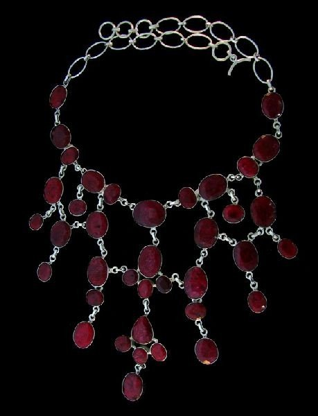 APP: 175.5k 337.45CT Ruby & Sterling Silver Necklace