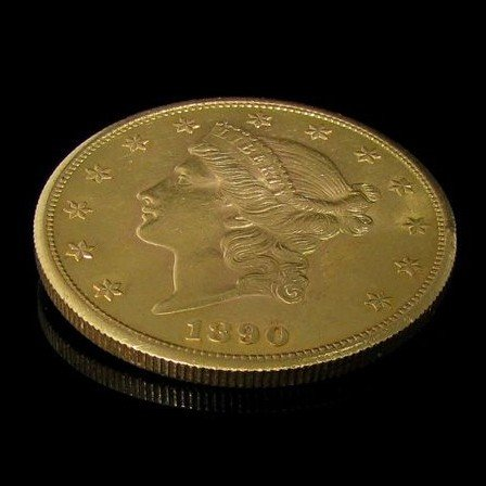 1890-s $ 20 U.S. Liberty Head Gold  Coin - Investment