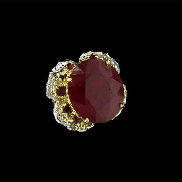 APP: 28.9k 14 kt. Gold, 21.52CT Ruby & Diamond Ring